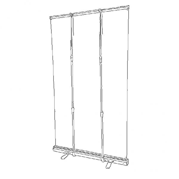 Clear pvc retractable barrier